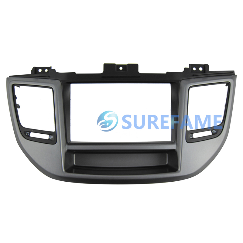Double Din Car Fascia for Hyundai Tucson 2015 right wheel Radio GPS Stereo Panel Dash Mount