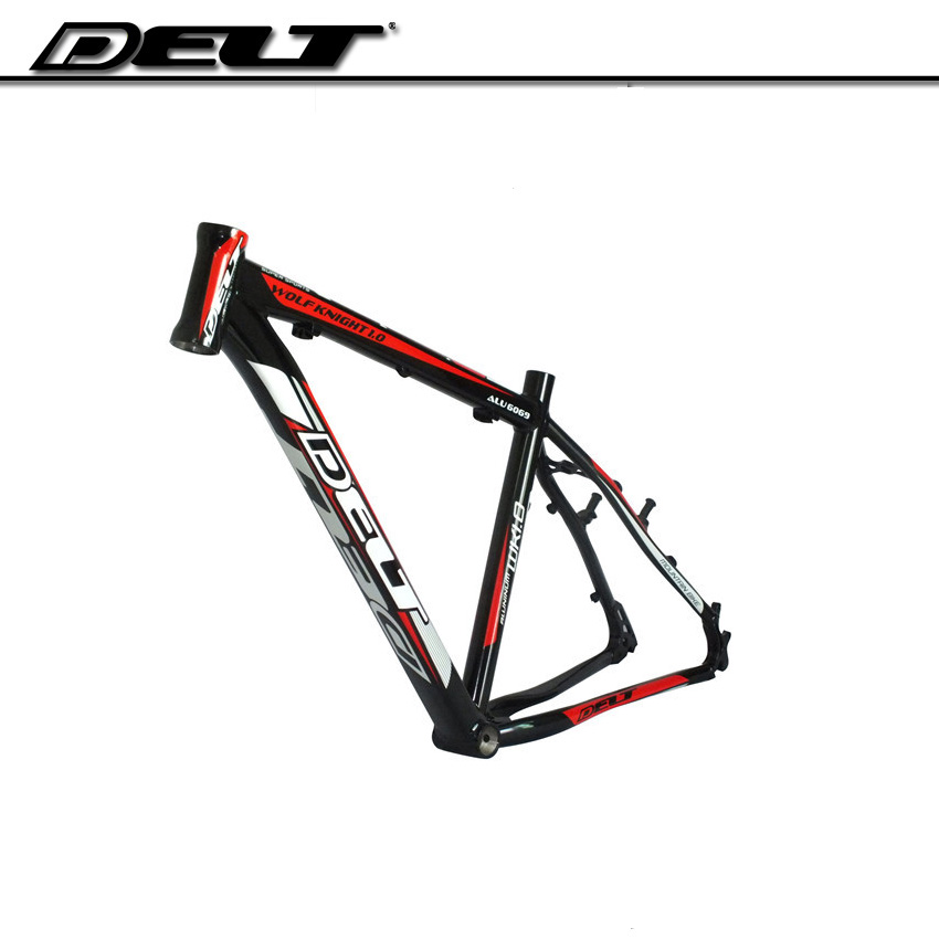 DELT lightweight 26 * 17 in ch Mountain bike MTB bicycle frame alloy glossy for Disc brakes & v brakes mtb mountain bike bicycle frame 26 x 17 inch al6069 for bike headset 44 55mm glossy