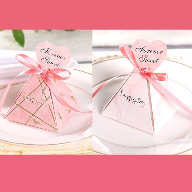 Pyramid Marble Drawing Candy Box Baby Shower Gift Birthday Wedding Party Creative Tray In Bags Wrapping Supplies From Home Garden On