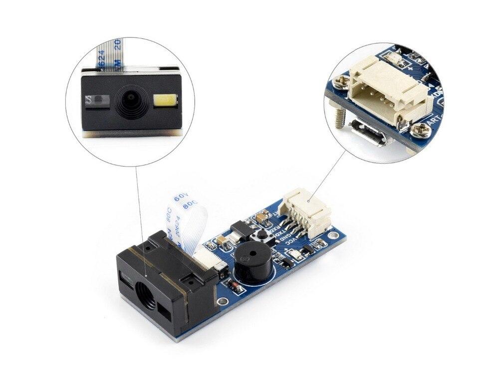 Waveshare Barcode Scanner Module 1D 2D Codes Reader UART USB interface