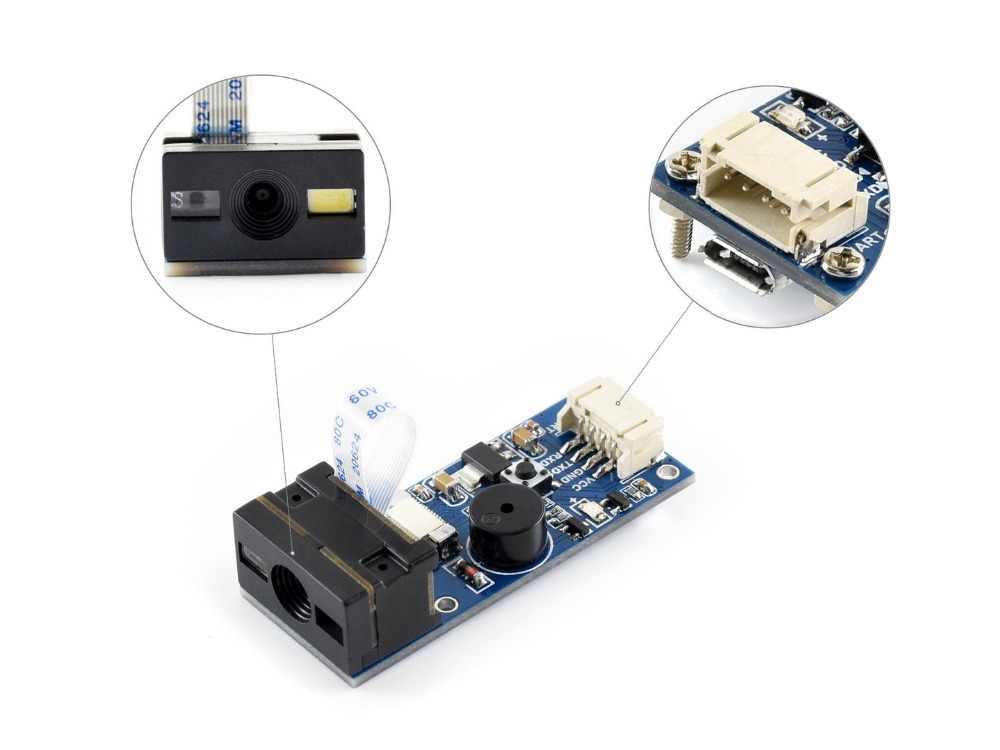 Waveshare Barcode Scanner Module small 1D/2D Codes Reader