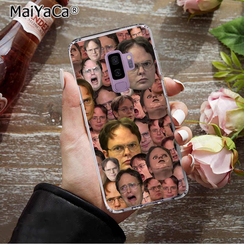 MaiYaCa הטוב ביותר של דווייט Schrute צבעוני טלפון מקרה אופנה כיסוי עבור Samsung S9 S9 בתוספת S5 S6 S6edge S6plus S7 s7edge S8 S8plus