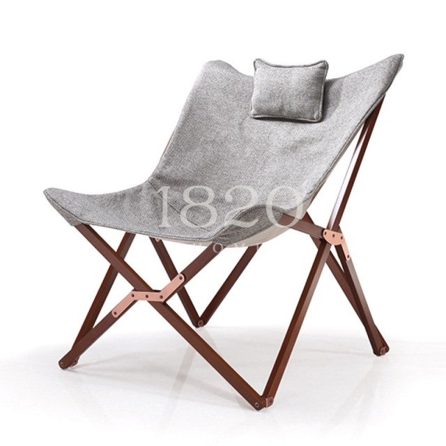 Folding Fabric Chairs Swing Chair Malaysia Solid Wood Furniture Butterfly Garden Patio Lounger Chaise Lounge Napping