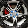 20 unids Tuercas de Rueda Tapacubos Cubiertas Protectoras Perno Tornillo de Gel de Sílice Protector Para Hyundai Solaris Verna Elantra Tucson IX45 IX35