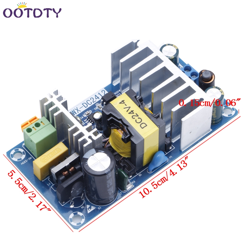 Power Supply Module AC 110v 220v to DC 24V 6A AC-DC Switching Power Supply Board 1pcs lot sh b17 50w 220v to 110v 110v to 220v