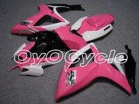 Для 06 07 Suzuki GSXR600 GSXR750 K6 K7 GSXR 600 750 инъекции мотоциклов ABS обтекателя кузова Комплект 2006 2007 белый розовый
