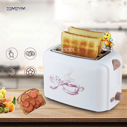 TL-123 Household Automatic Bread Toaster Baking Bread Maker Machine 2 Slices Slots Color White/Pink Multifunctional 220V/50hz