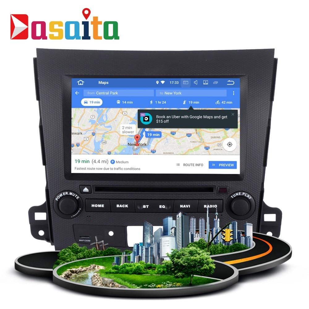 font b Car b font GPS android 7 1 1 GPS Navi for Mitsubishi Outlander