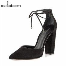 Mabaiwan Sexy Black Women Sandals Lace Up Gladiator High Heels 9CM Women Pumps Wedding Dress Shoes Woman Stiletto Valentine Shoe