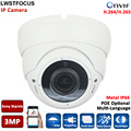 3MP IP POE Outdoor dome camera IP Camera 3MP/1080P CCTV Dome Camera Vandal-proof Waterproof Outdoor IP Cam Varifocal 4MP Lens