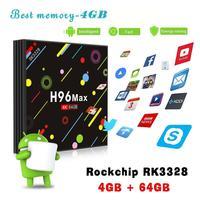 H96 MAX 4G RAM 64G ROM Android 7.1 Smart TV Box Network Function Set Top Box RK3328 Quad Core WiFi BT USB 3.0 4K Media Player