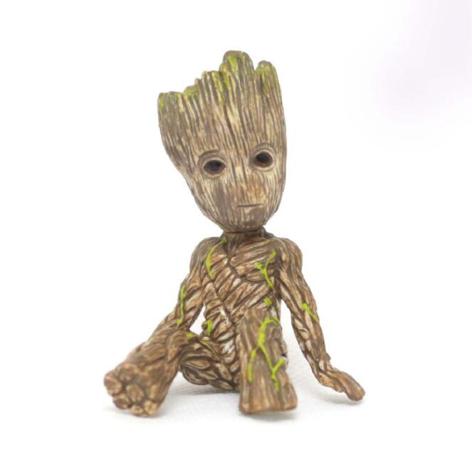 Tree Man Baby Hero Marvel Action Figure Dolls Phoneholder Grunt Guardians of The Galaxy Model Toy Statue Ornaments Birthday Gift