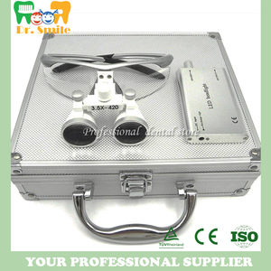 Image 1 - D  loupes  magnifying glasses dental and surgical loupes with head light packed in aluminium box