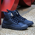 2017 primavera de Moda de Alta-top Ankle Boots Militares Confortável Sapato De Couro Dos Homens Martin Botas homens sapatos vice versa masculina bota