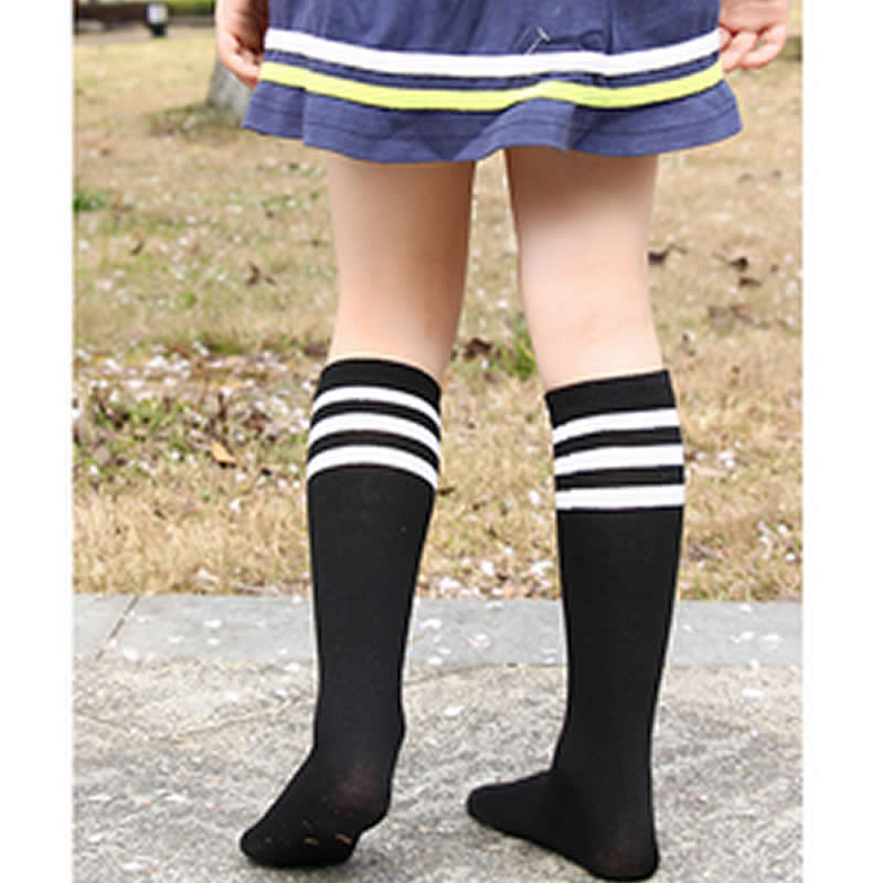 Baby Girls Knee High Socks Kids Children Cute leg Warmers Solid Cotton Girl Long Tube Black Socks Three Bars Shool Sneaker SocksBaby Girls Knee High Socks Kids Children Cute leg Warmers Solid Cotton Girl Long Tube Black Socks Three Bars Shool Sneaker Socks