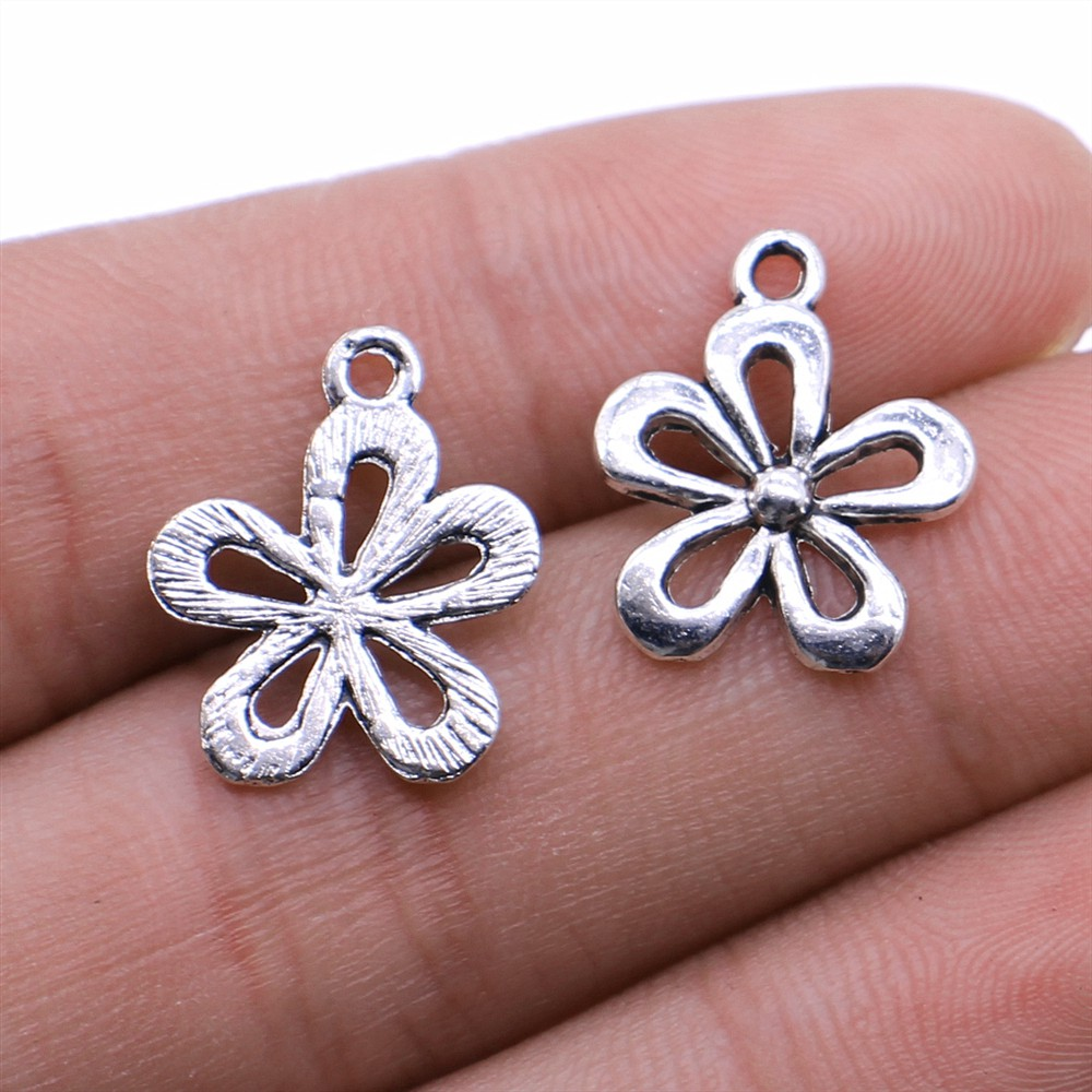 15pcs Starfish Charms silver tone Ocean Shell Charm pendants 18x15mm