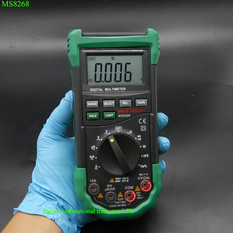 Electrical Frequency Tester : Digital multimeter mastech ms auto range full