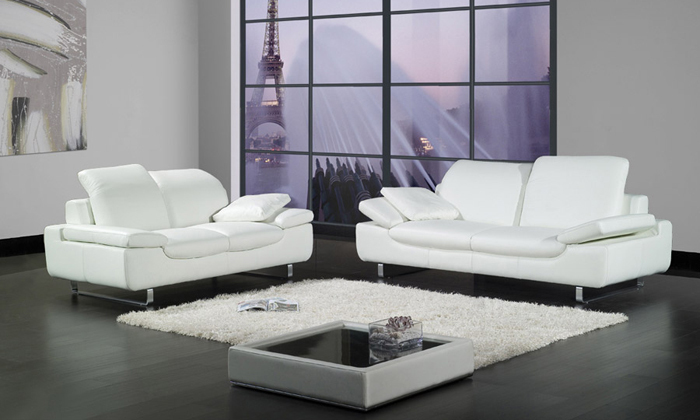 Free Shipping 2017 Design 1 2 3 Sofa Cattle Leather Set Sectional Living Room Furniture La067