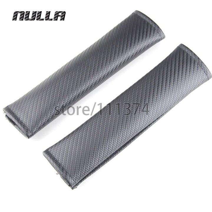 NULLA 2Pcs Carbon Look Seat Belt Cover Shoulder Pad fit for Mini Cooper S R50 R52 R55 R56 R60 F55 F56 Car Styling Replacement