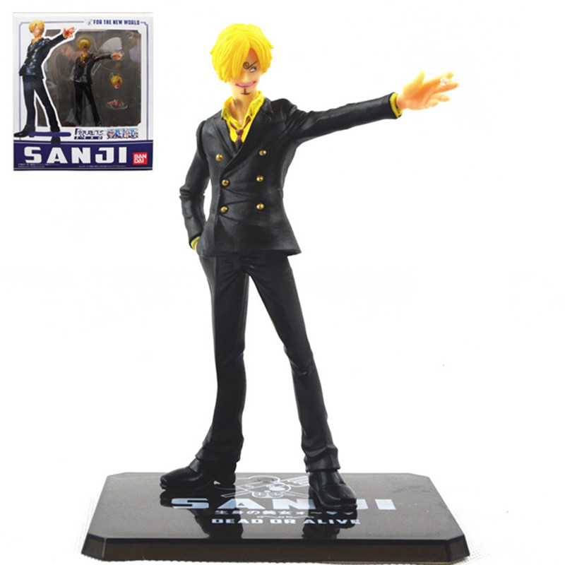 """1 pcs 16cm/6.3"""" <font><b>New</b></font> <font><b>World</b></font> <font><b>the</b></font> <font><b>Sanji</b></font> <font><b>Japanese</b></font> <font><b>Anime</b></font> <font><b>Cartoon</b></font> Two Years Later One Piece Action Figures PVC Toy Doll Model"""