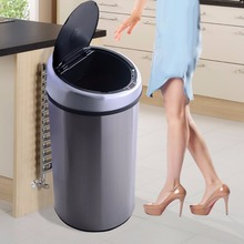 GOPLUS Touchless Automatic Infrared Sensor Trash Can 13.2 Gallon Stainless Steel  HW51342