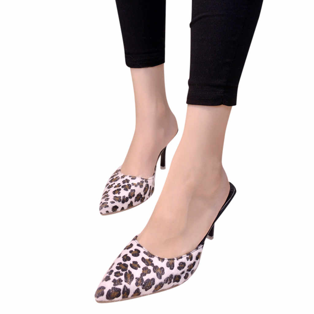 ca410cfdcbd YOUYEDIAN Fashion Women high Heel Pointed Leopard 2019 Slip On High Heels  Stiletto Single Shoes zapatos