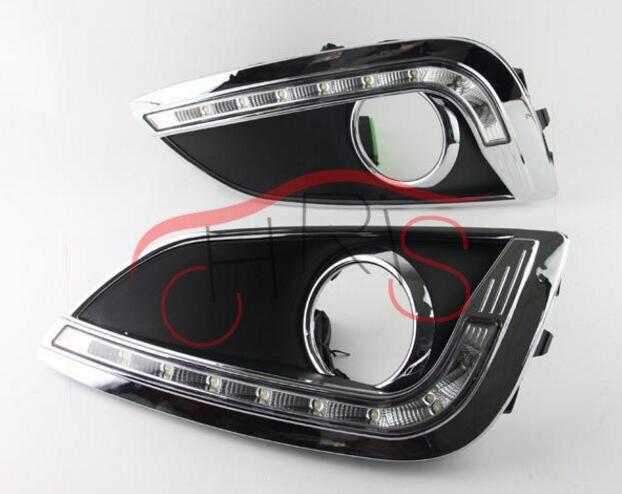 стайлинга автомобилей светодиодными фарами дневного света DRL для Хендай ix35 2011-2014