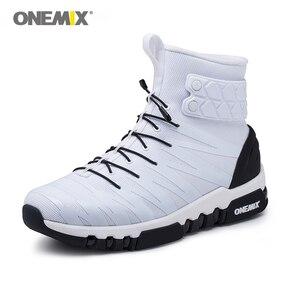Image 3 - ONEMIX çizmeler erkekler için koşu ayakkabıları yüksek Top Trekking spor ayakkabılar çapraz spor açık koşu Sneakers rahat yürüyüş