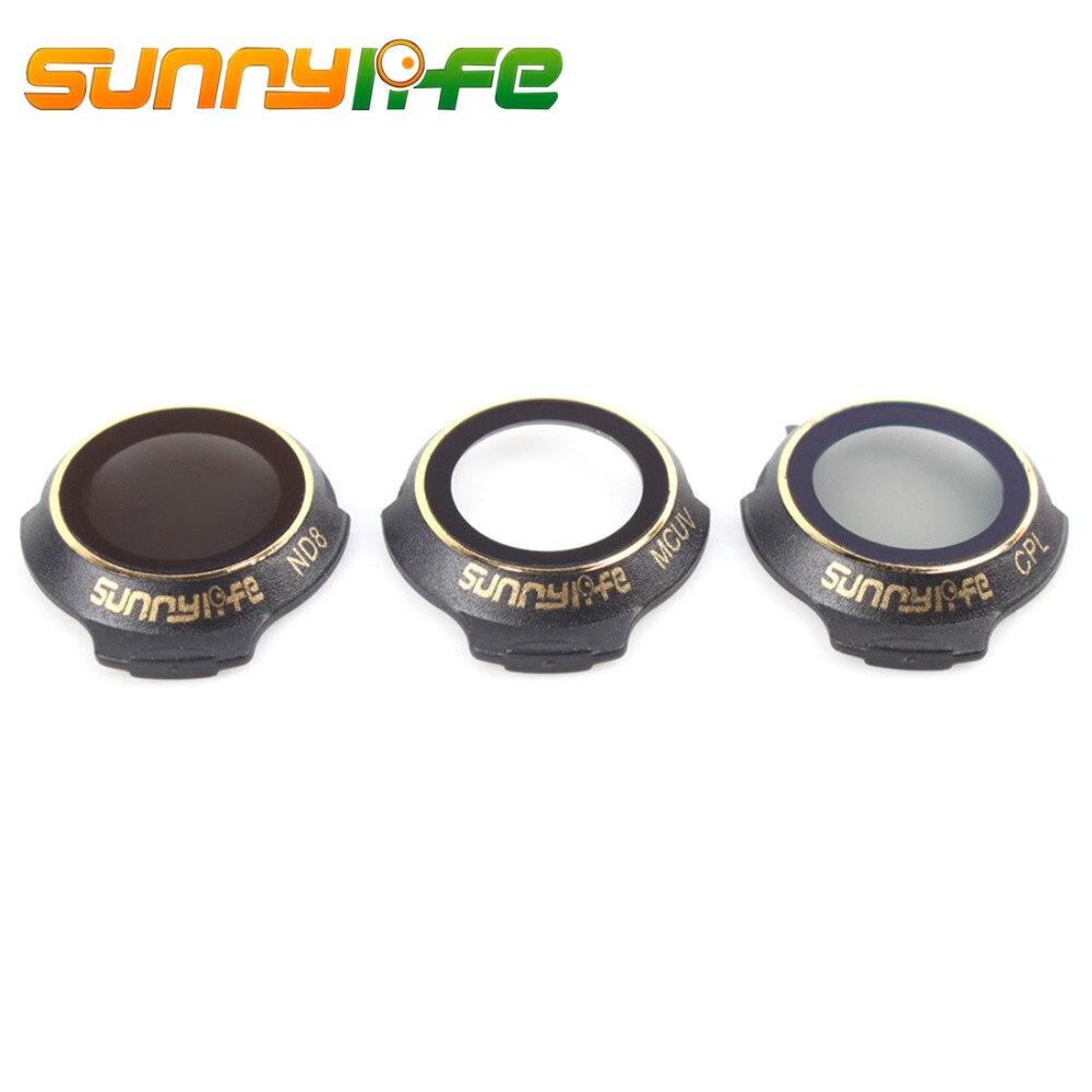 Sunnylife 3Pcs MCUV CPL ND8 Filter Set for DJI Mavic Pro/Alpine White/Platinum - MCUV CPL ND8