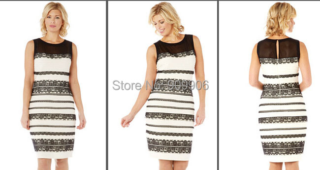 Zwart blauwe jurk of wit met goud