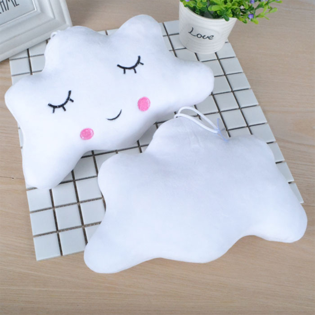 3 Colors Small Pillows Moon Star Cloud Shape Emoticon Short Plush Throw Pillow Cute Dolls Pendant