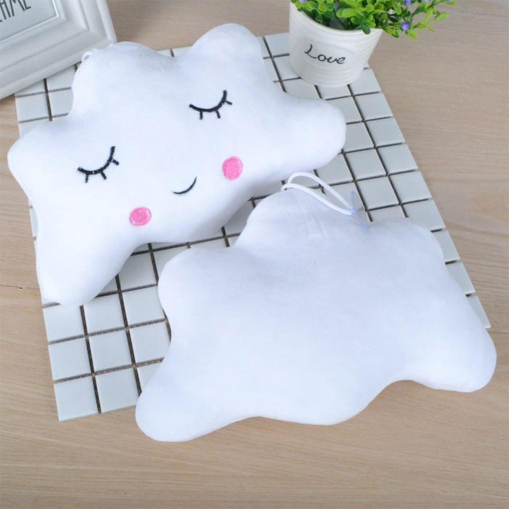 3 Colors Small Pillows Moon Star Cloud Shape Emoticon Short Plush Throw Pillow Cute Dolls Pendant