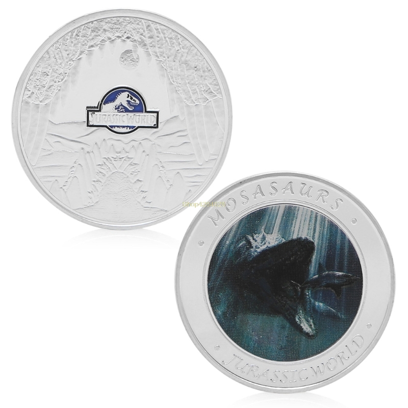 2018 Meaningful Jurassic World Park Silver Plated Commemorative Challenge Coin Token Collection