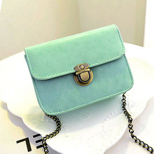 2016 New Fashion Women Bag Luxury Handbags Women Bags Designer PU Leather Candy Color Crossbody Mini Bag Pure Color