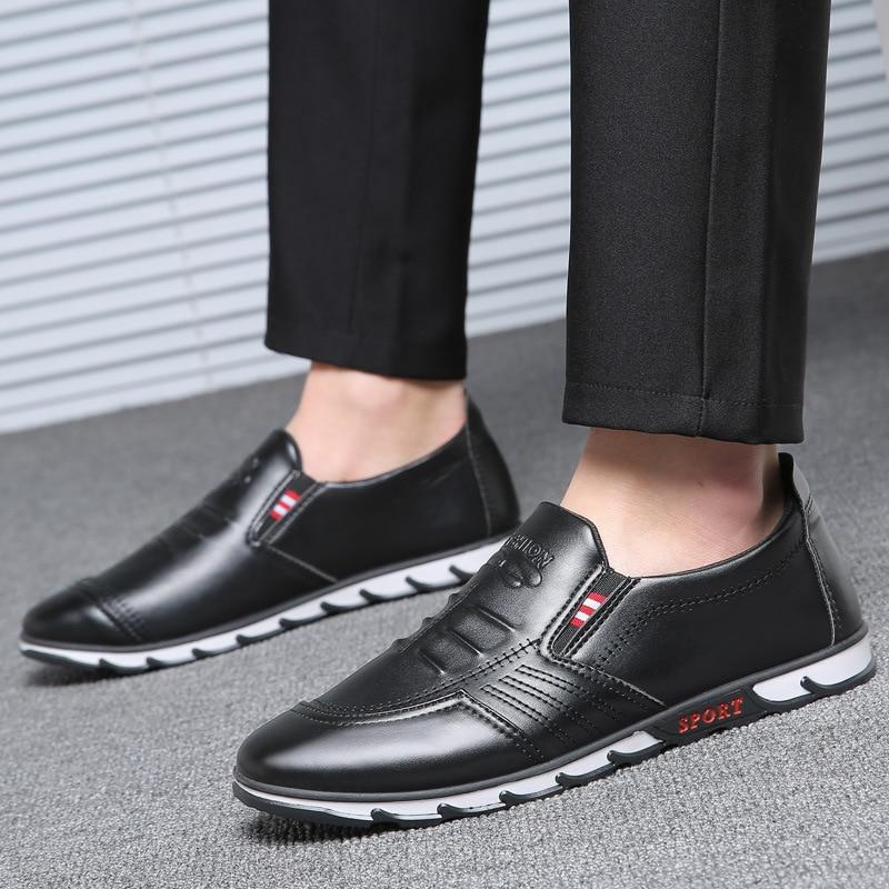 Printemps Conduite Hommes Mode Casual Été Chaussures Appartements Mocassins on Léger Patchwork Respirant brown Black Cuir En Slip wCY1nUq