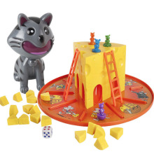 Popular Novelty Toys Desktop Funny Game Cat and Mouse Rat Stole Cheese Family Parent-child Interactive Educational Toy juior blokus classic kids board game baby desktop funny strategy game family parent child interactive educational fun toys