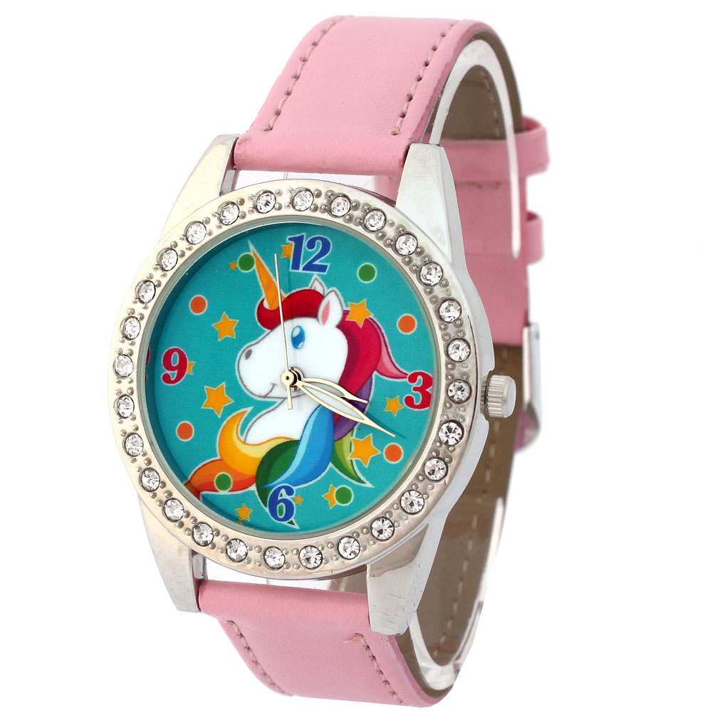 Watches Generous Cute Unicorn Ladies Watch For Kids Girls Boy Rose Leather Wristwatch Casual Dress Fashion Children Learn Time Watch U85b Quality First