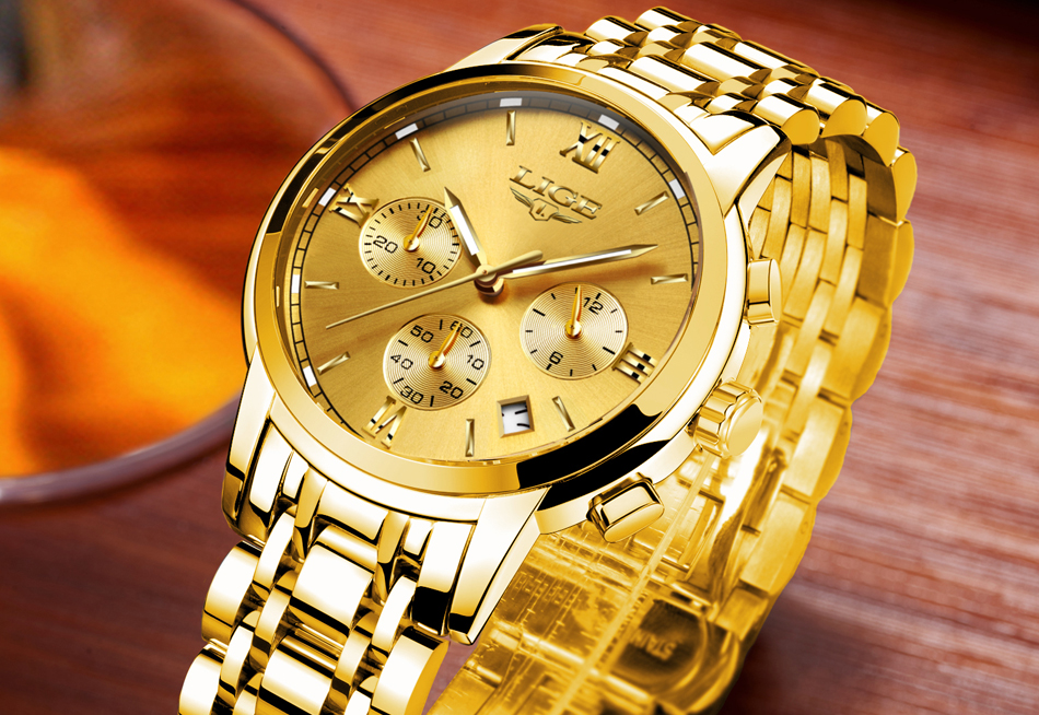 ba62d113438db2 New LIGE Watches Men Luxury Brand Chronograph Men Sports Watches Waterproof  Full Steel Quartz Watch Man Clock Relogio Masculino