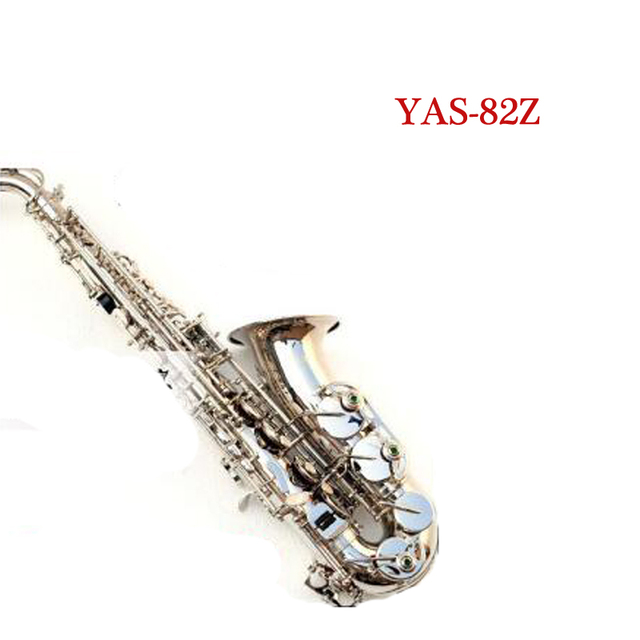 Cheap YAS-82Z Alto Saxophone E Flat Instrument Music on The Surface of Nickel Plating Bakelite Sax Saxofon Falling Tune E