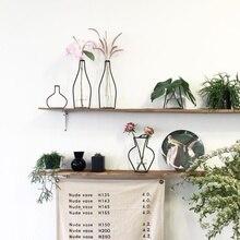Ваза для цветов абстрактные черные линии Минималистичная абстрактная железная ваза сушеные стойки скандинавские Цветочные украшения для дома вечерние украшения
