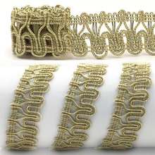 HAWARULU 2yard 2.5cm Handmade DIY Golden rim for tablecloth clothing accessories Christmas Hallowmas wedding gift fabric