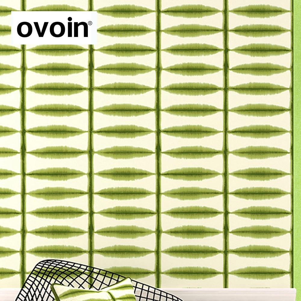 Ölgemälde Wirkung Designer Tapeten Green Leaf Streifen Muster Blau Orange  Creme Tapete Schlafzimmer Arbeitszimmer Wandbekleidung In Ölgemälde Wirkung  ...