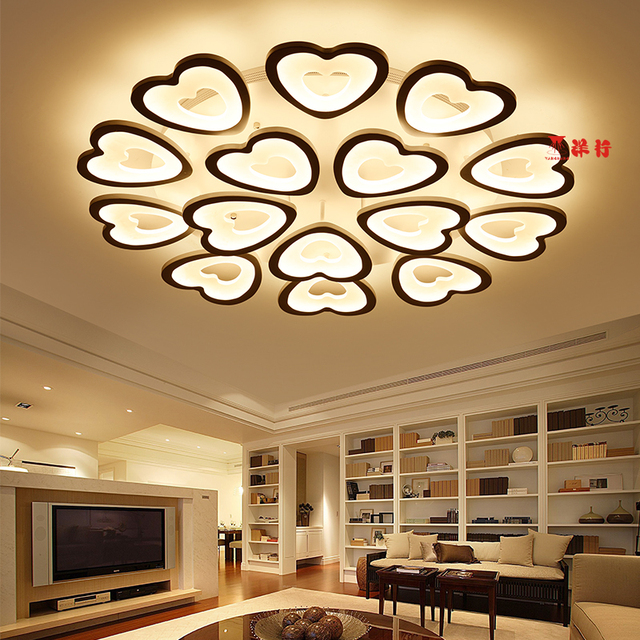 Rectangle Remote control living room bedroom modern led ceiling lights luminarias para sala dimming led ceiling lamp