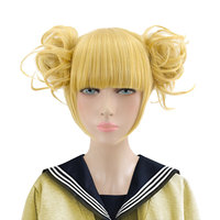 HSIU NEW High quality Himiko Toga Cosplay Wig My Hero Academy Costume Play Wigs Halloween Costumes Hair free shipping