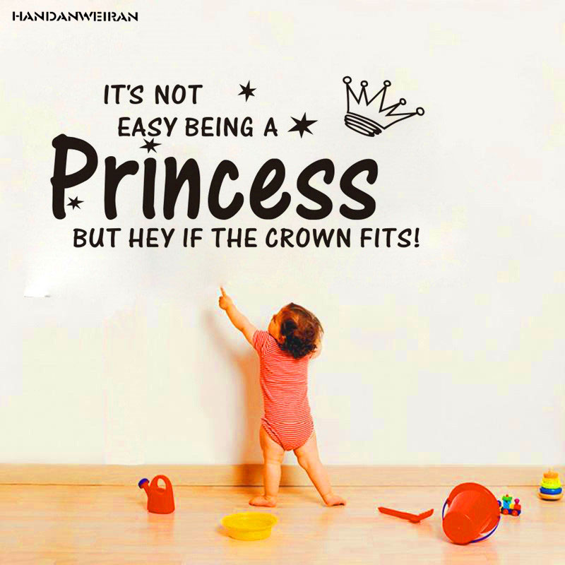 PrincessEnglish Proverbs wall sticker Baby room Princess room sticker Children sticker Removable Art wall Sticker