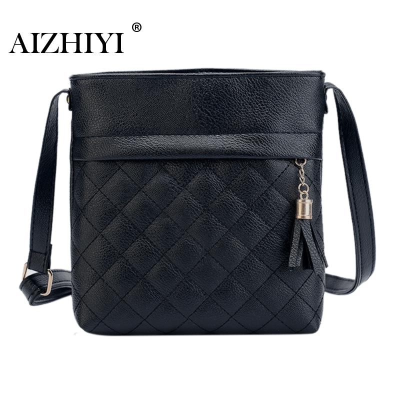 Female Crossbody Bags PU Leather Handbags Women Famous Brands Tassel  Messenger Bags Fashion Mini Crossbody Shoulder Bags zobokela women messenger bags female 2018 crossbody bags for women leather handbags women shoulder bags famous brands bolsa