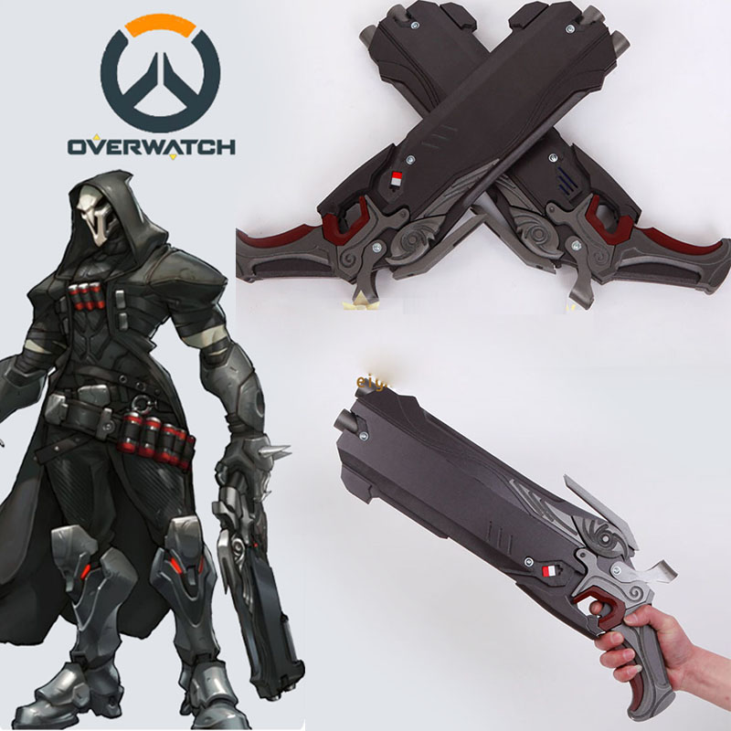 Hot Game OW Over and Watch Reaper Weapon Resin Hellfire 2 ...
