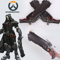 Hot Game OW Over and Watch Reaper Weapon Resin Hellfire 2 Shotguns Cosplay Prop 2 Guns