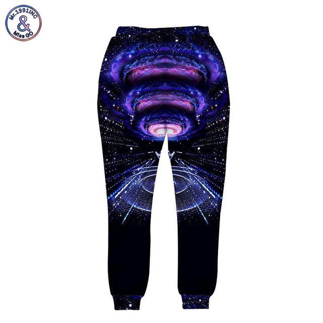 Mr.1991inc calça dos homens do estilo da moda 3d impressão direta de músicos sinfonia espaço turbilhão nebula galaxy corredores harem pants longos