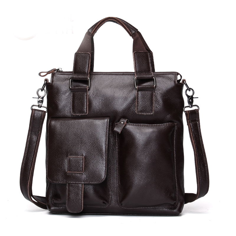 COMFORSKIN Large Capacity Mochila Masculina Guaranteed Cow Leather Men 39 s Totes New Arrivals Men Leather Travelling Handbags in Top Handle Bags from Luggage amp Bags